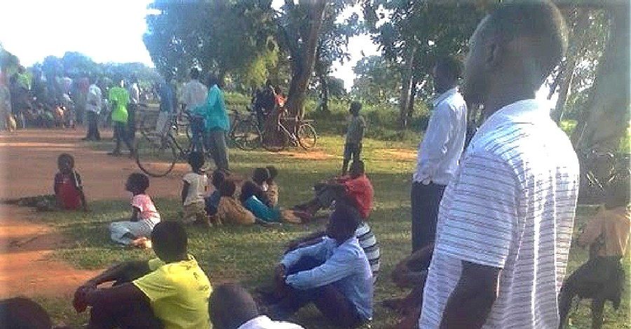 People mourning following the death of the pastor, pastor killed after radio broadcast in Uganda