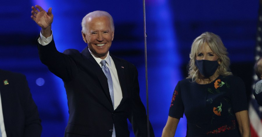 Joe Biden and his wife, Biden is declared the Presidential Election winner by the media