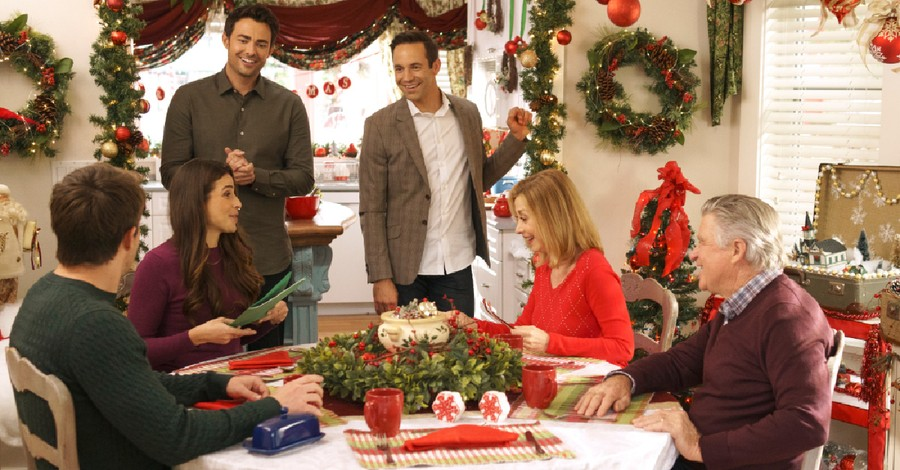 "A still from Hallmark's ""Christmas House"", Mohler warns about LGBT messages in Hallmark Christmas movies"