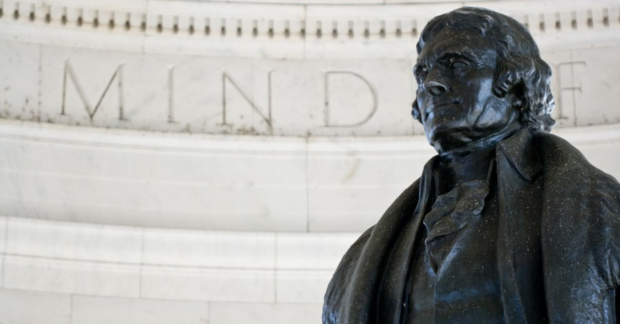Thomas Jefferson statue, Jefferson's name is removed from a school to make the students 'feel safe'
