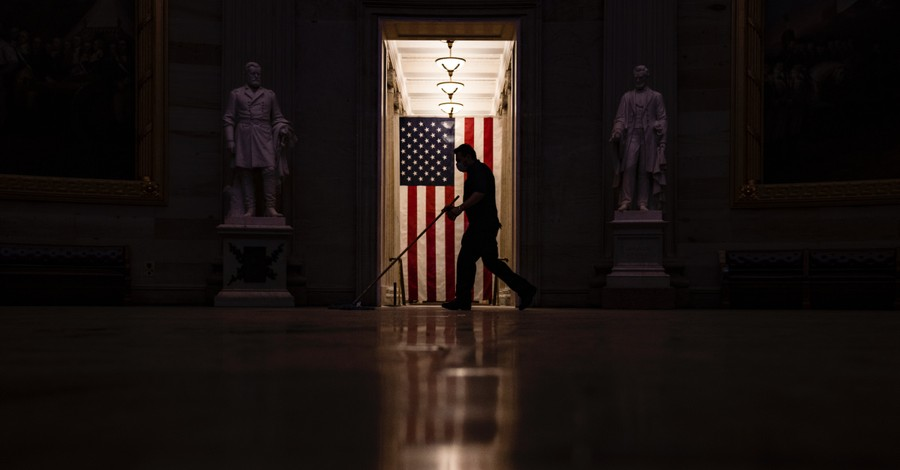 A man cleaning up following the invasion of the Capitol, A biblical path to empowering purpose