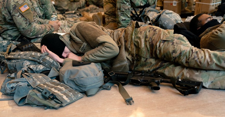 National Guard Troops, finding transcendent hope on hard days