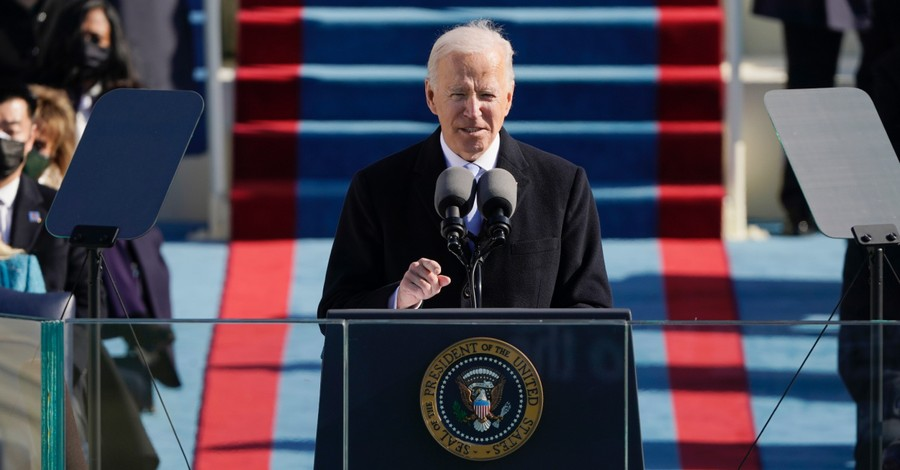 Joe Biden, Biden quotes the Bible in his inaugural speech