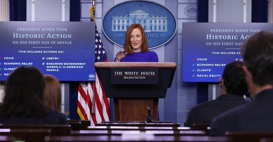 Jen Psaki, Psaki dodges question on pro-life policies by citing Biden's Catholic faith