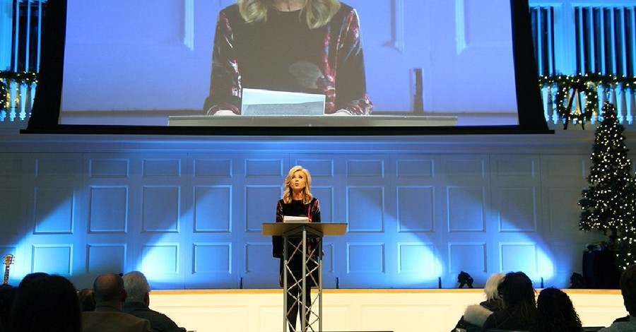 Beth Moore speaking at a conference, Beth Moore left the SBC after the SBC left women to fend for themselves