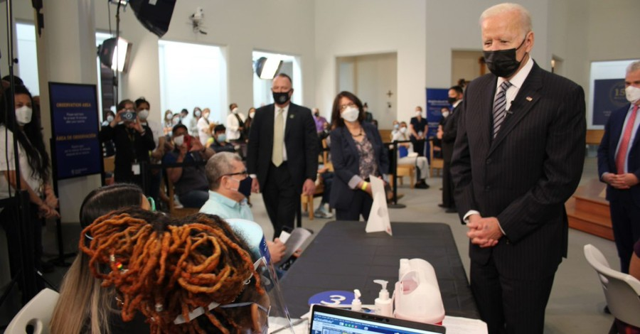 President Biden visiting a VA seminary functioning as a vaccine clinic, Biden hails seminary's effort to aid in vaccine administration