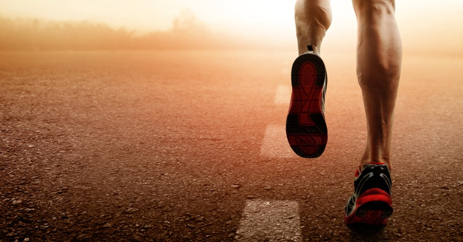 a man running, How to turn our discouragement into God's transforming strength