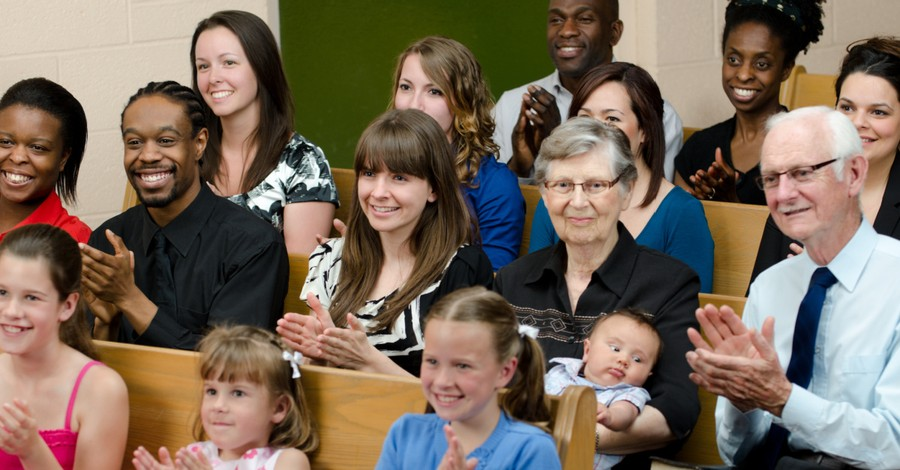 People at a multi-racial church, A study finds that nearly 30 percent of Black practicing Christians have experienced racial prejudice in a multiracial church