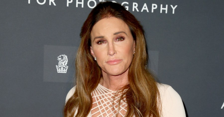 Caitlyn Jenner on a red carpet, Jenner offers support for laws banning transgender athletes from participating in girls' sports