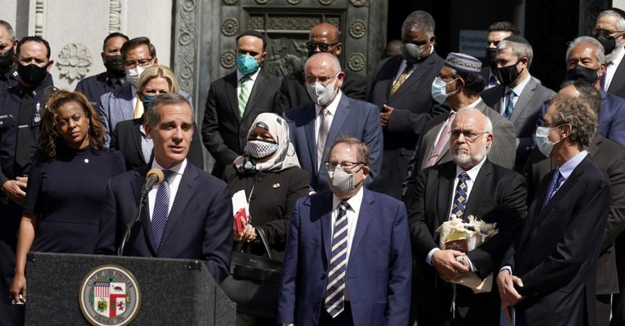 Los Angeles Mayor, Police make arrest in suspected anti-Semitic hate crime in LA