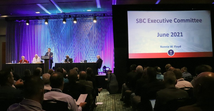 Ronnie Floyd speaking before the SBC Executive Committee, SBC Executive Committee rejects request for system-wide abuse inquiry