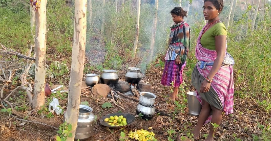 Two young Christians in the jungle, Tribal animists reportedly force dozens of Christians into the jungle in India