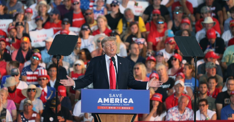 Donald Trump, Trump criticized Biden at rally over the weekend