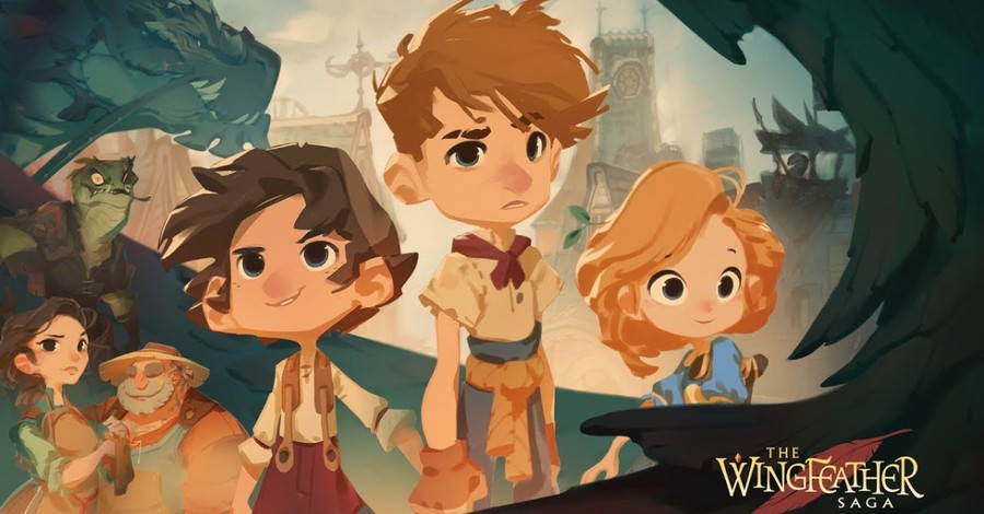 The Wingfeather Saga poster, Angel Studios to make animated fantasy kids show