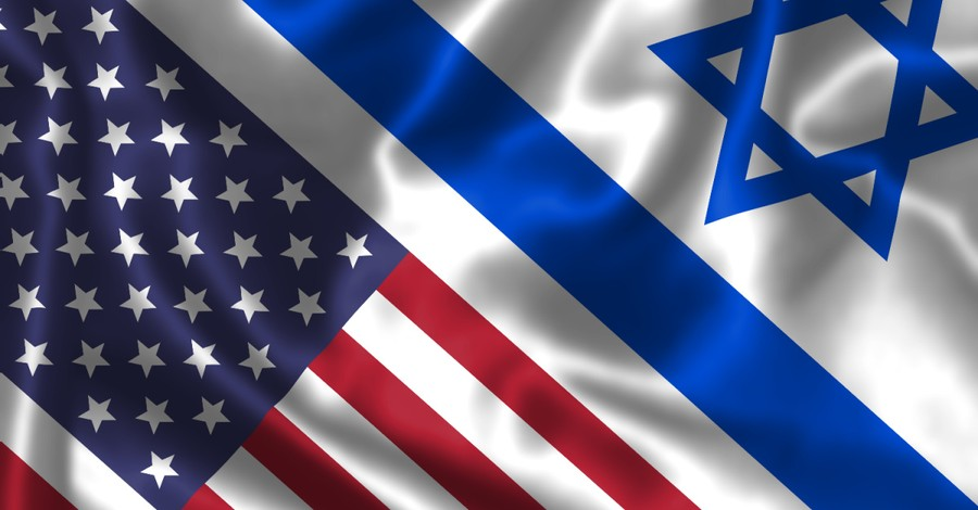 The American and Israeli flags, On the 245th anniversary of America's founding we also recognize the 45th anniversary of the Battle of Entebbe