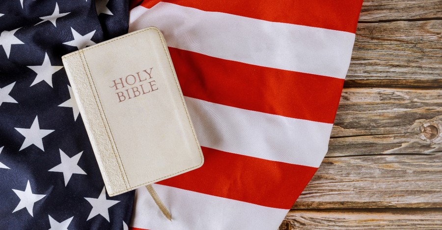 American flag and bible, Faith advocacy groups create a curriculum to help churches fight Christian Nationalism