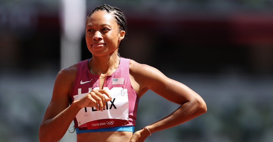 Allyson Felix, Felix thanks God for making to the semi-finals at the Olympics