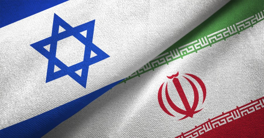 Israeli and Iranian flags, Israeli Defense Minister Calls for Action following Alleged Iranian Ship Attack