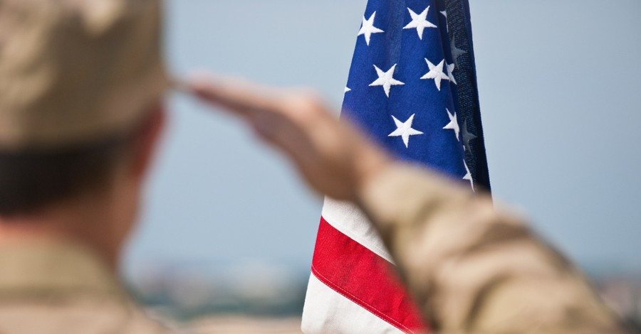 U.S. Military person saluting the flag, Don't confuse military action with the mission of God