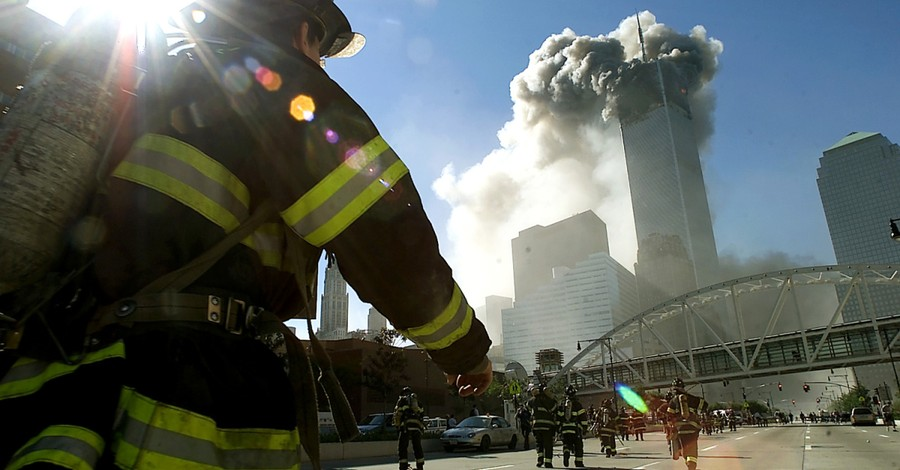 Firefighters running toward the burning Twin Towers, Where was God on September 11, 2001?