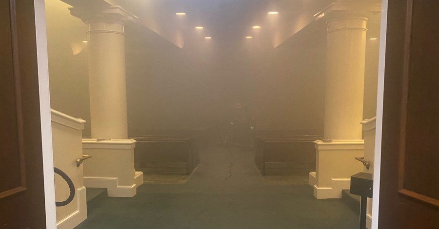 First Baptist Church in Montgomery, Ala. fire