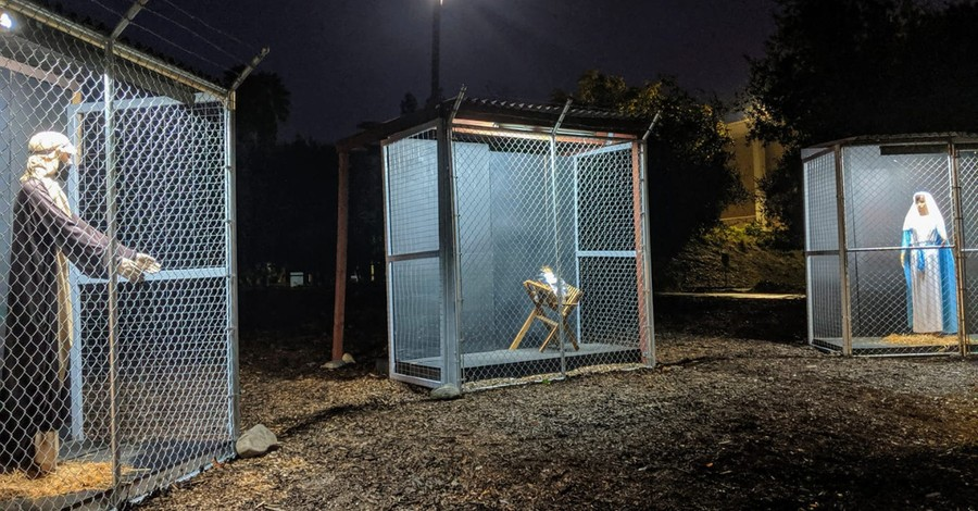 Church Nativity Scene Depicts Holy Family in Cages, Separated at the Border
