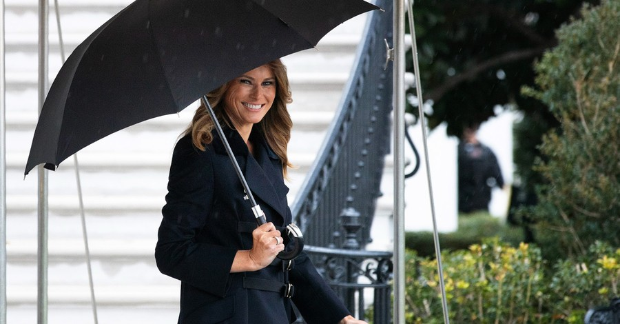 Melania Trump Denounces U.S. Capitol Attack, Reminds Americans 'We Are One Nation Under God'
