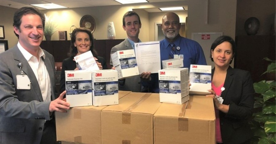 Church Donates 4,000 N95 Masks to Area Hospitals: 'Thank You for Your Dedication'