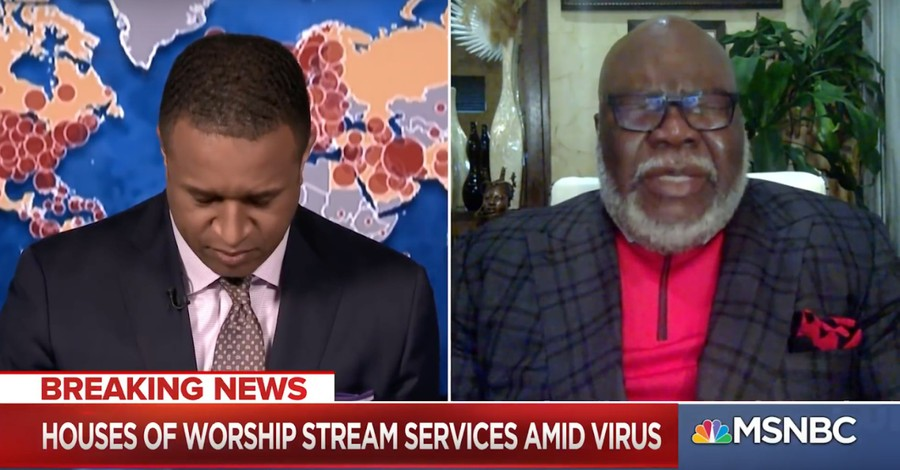 'We Need Prayer': MSNBC Host Asks T.D. Jakes to Pray for Nation on Live TV