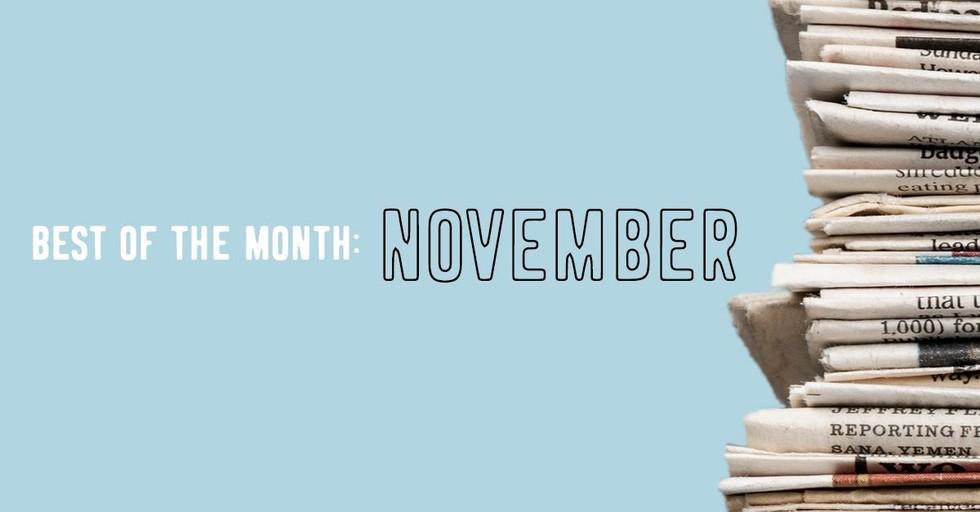 Best of the Month: November's Top Ten News Stories