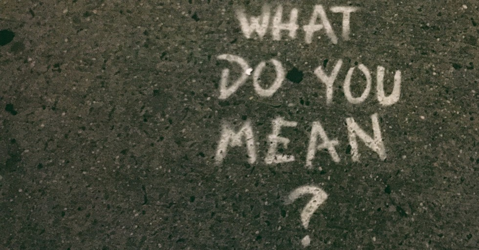 what do you mean question written on pavement
